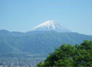 湯村山 山頂 富士山