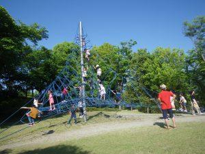 曽根丘陵公園 風土記の丘 アスレチック ロープ ネット