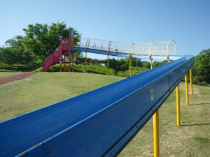 曽根丘陵公園 風土記の丘 ローラー滑り台 長い滑り台