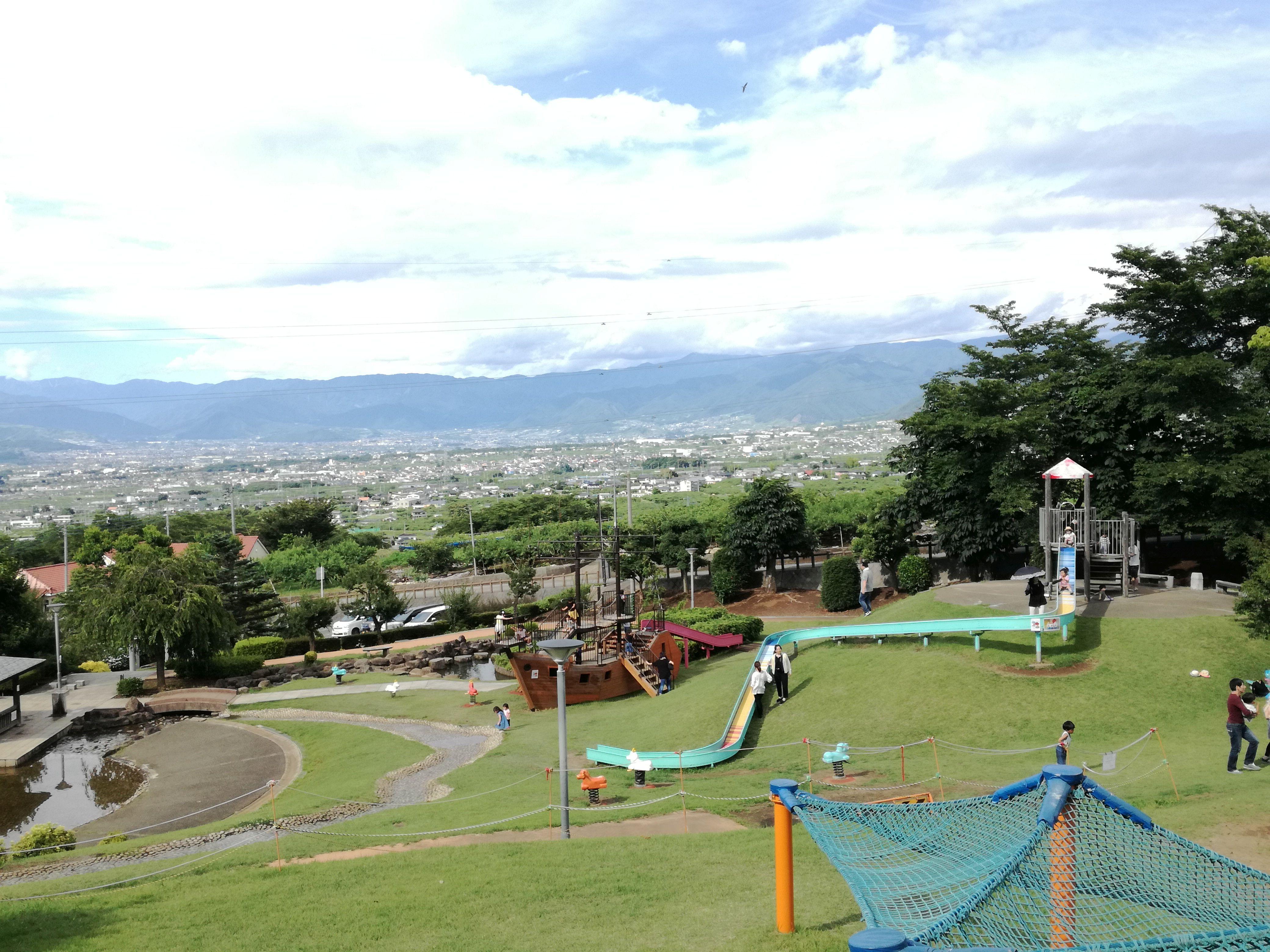八代ふるさと公園 眺め 遊具