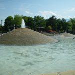 公園 噴水 遊び