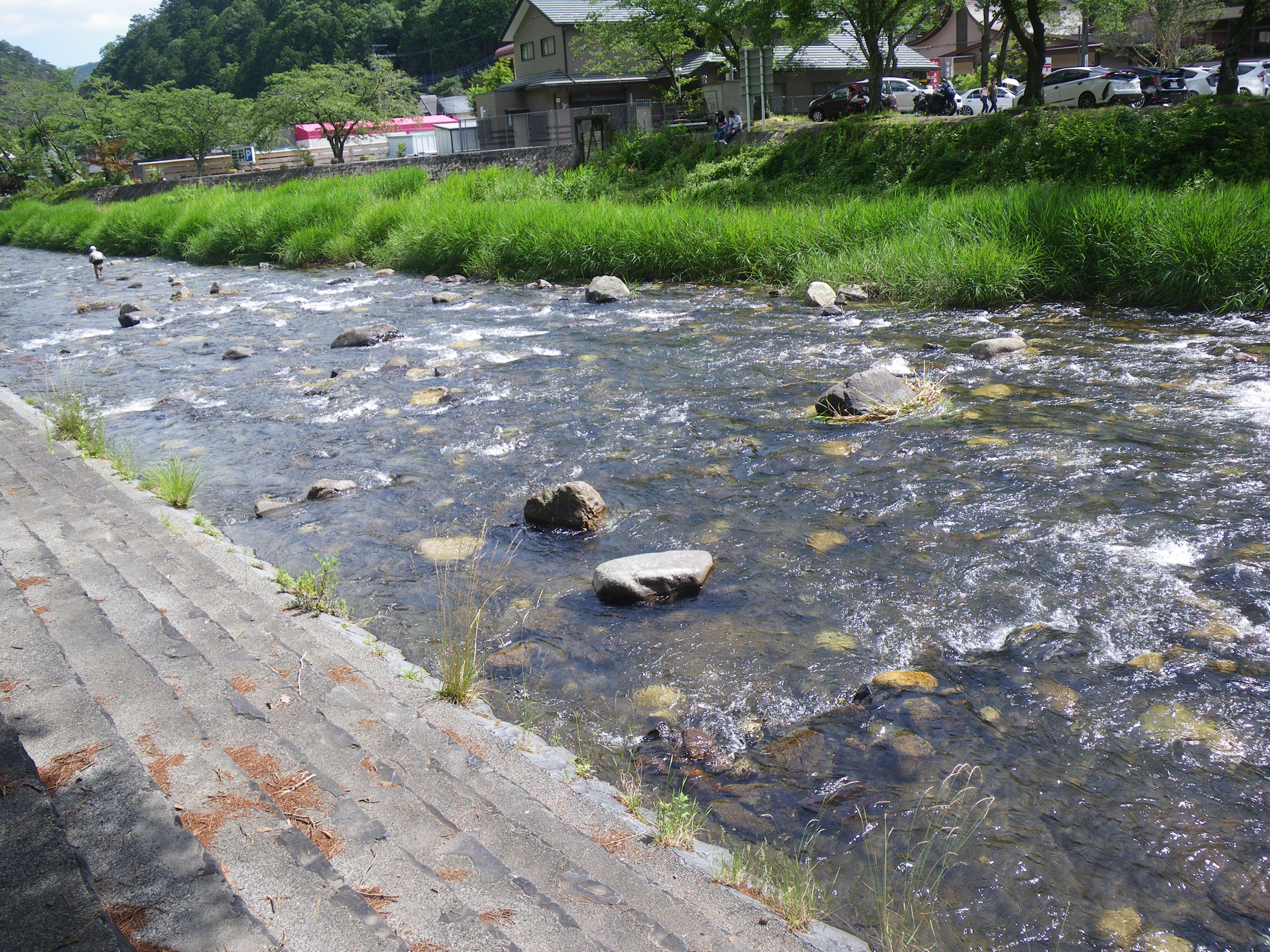 昇仙峡 川遊び