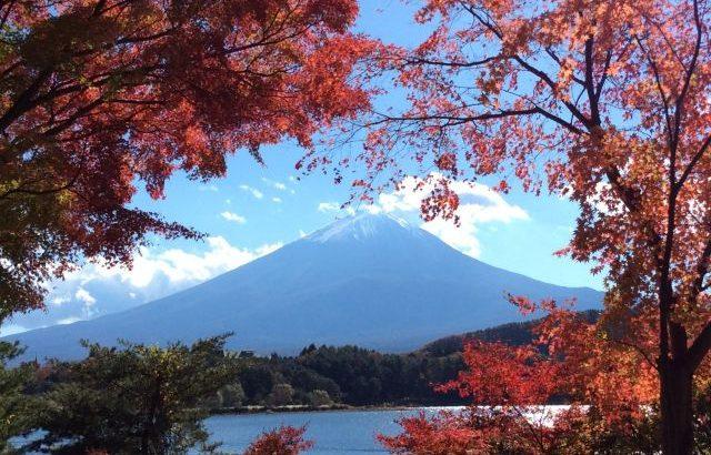 河口湖 紅葉 富士