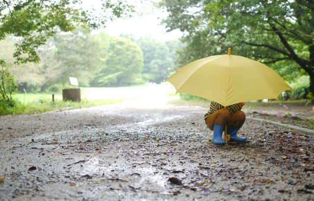 雨の日 子供 どこいく