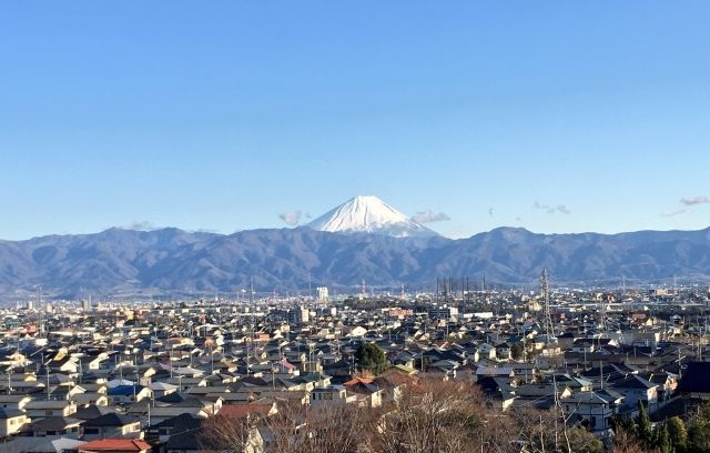 甲府 盆地 富士山
