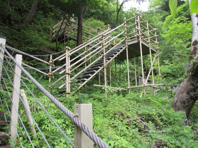 つり橋 富士川町 ハイキング