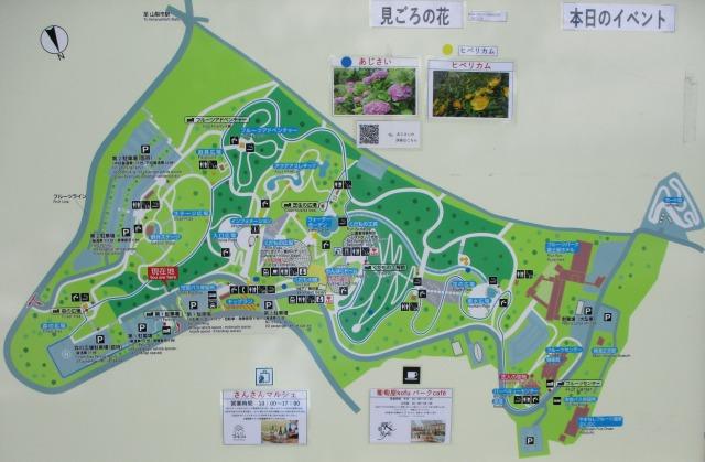笛吹川フルーツ公園全体の地図