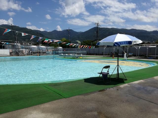 緑ヶ丘プールの幼児用プール