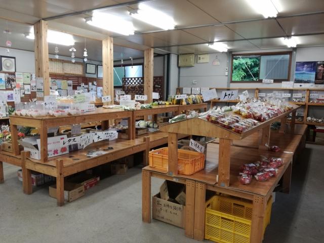 パノラマ市場店内の直売所の様子