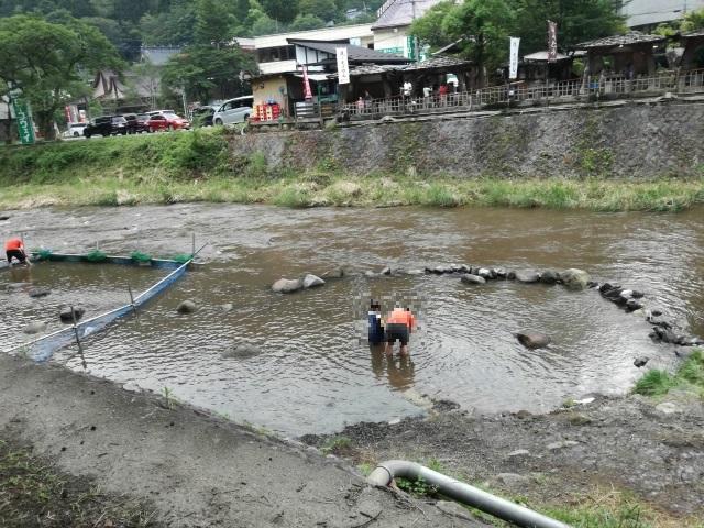 昇仙峡夏休み企画の会場の様子を上から見たところ
