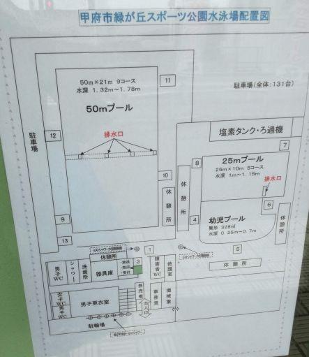 緑ヶ丘プールの見取り図