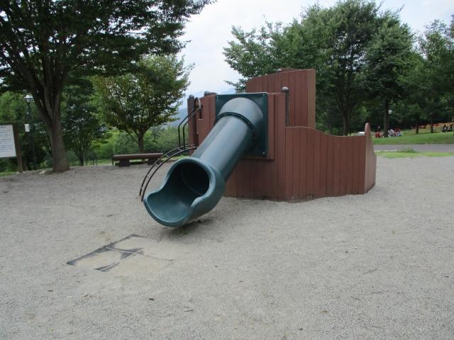 桂川ウェルネスパークの小さい子向け遊具