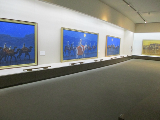 平山郁夫シルクロード美術館の中の様子
