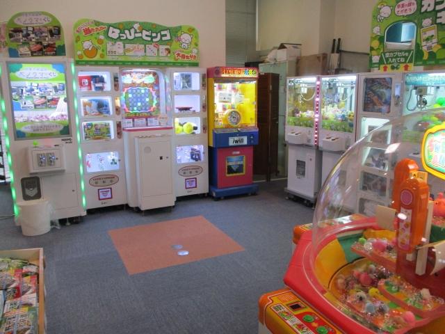 パノラマの湯売店奥にあるゲームコーナー