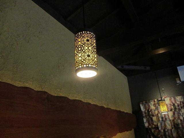 昇仙峡ノカフェテロワールの照明