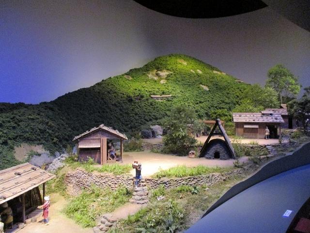 金山博物館内のジオラマ