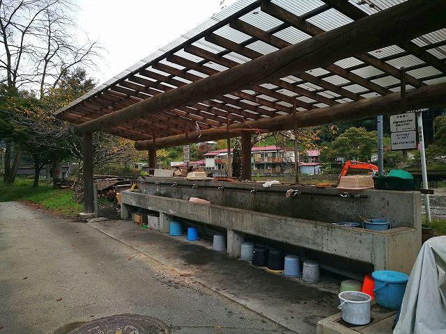 小菅フィッシングビレッジの水場