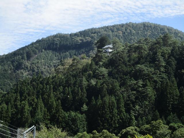 山の中にお城が見える