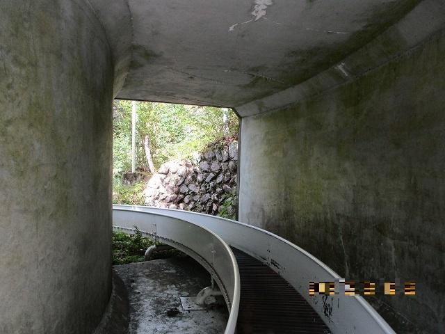 ローラーすべり台はトンネルもくぐる