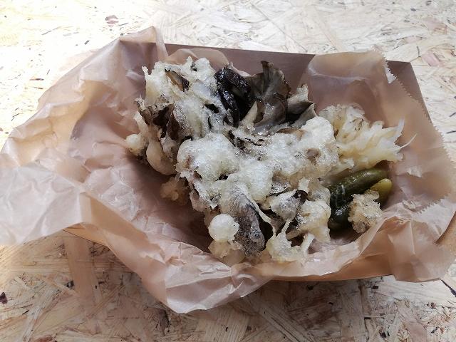 丹波山村産の原木舞茸の天ぷら