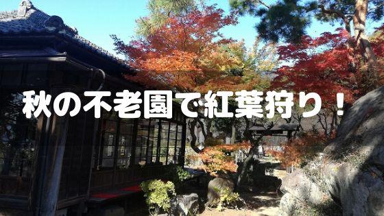 秋の不老園で紅葉狩り♪無料開園で隠れ家カフェ