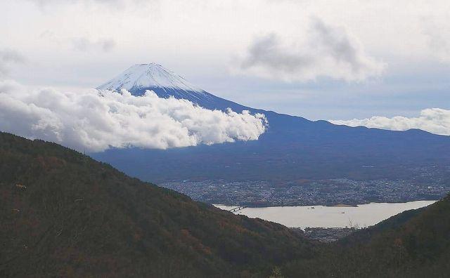 天下茶屋から見える富士山