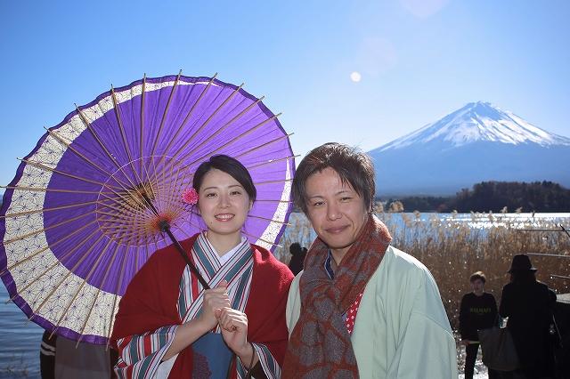キモノキブンで着物レンタル 富士山と