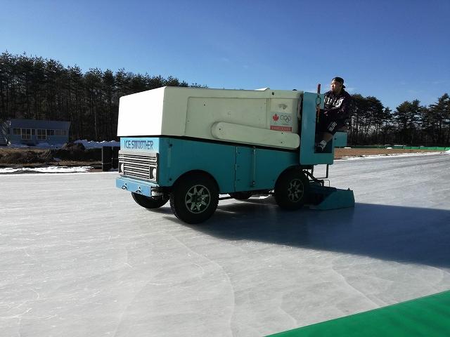 八ヶ岳スケートセンターの製氷車