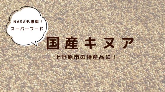 国産キヌア 上野原市の特産品に!
